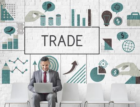 Businessman planning financial investment chart