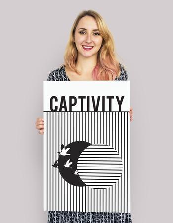 포로에서 자유에 이르는 조류의 그래픽