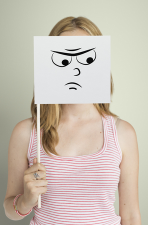 Drawing Facial Expressions Emotions Feelings 版權商用圖片
