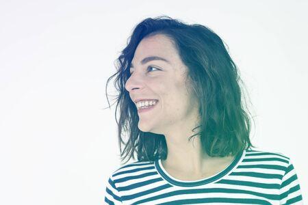 Woman Happy Face Expression Emotion Reklamní fotografie