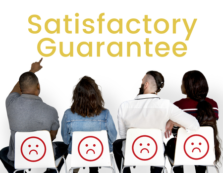 Satisfactory Client Comment Customer Support Stock Photo