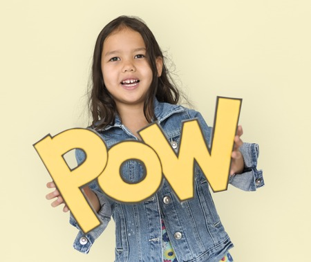 amplify: Little Girl Holding Papercraft Pow