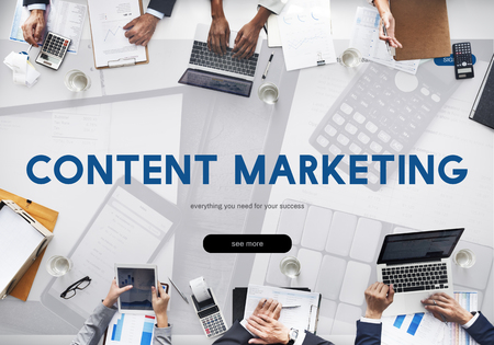 Content Marketing Business Commercial Data Stock Photo