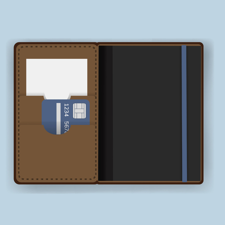 Passport holder cover equipment vector