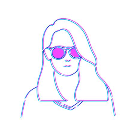 Vrouw Doodle tekening schets illustratie Vector