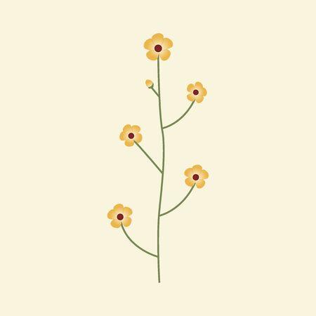 Wild Flower Vector Illustration