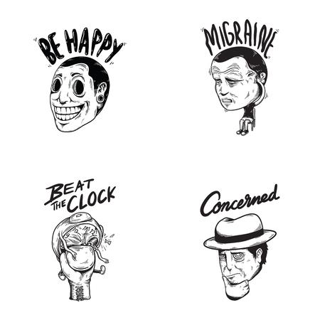 幸せな関係の感情表現感情グラフィック アイコン イラスト  イラスト・ベクター素材