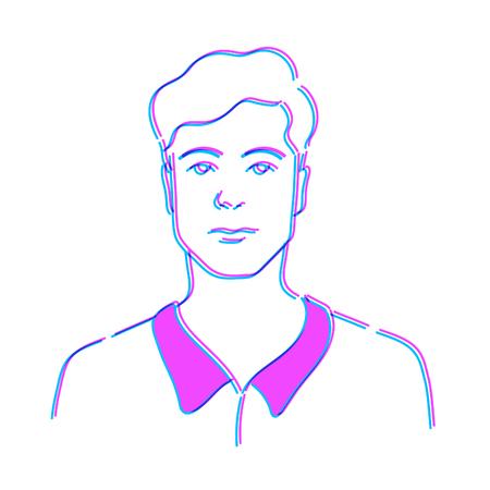 Man Doodle Drawing Sketch Illustration Vector Illusztráció