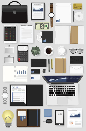 Gadgets of business vector illustration