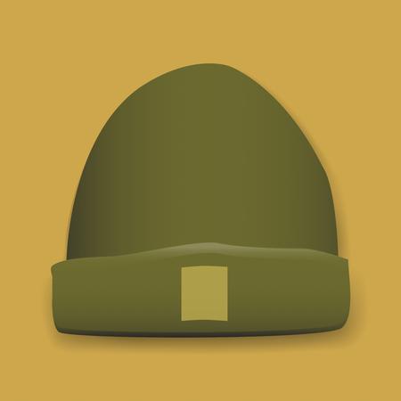 緑の冬帽子グラフィック イラスト