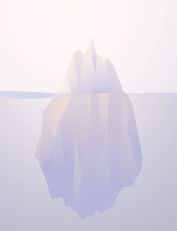 Iceberg nature submerged vector illustration