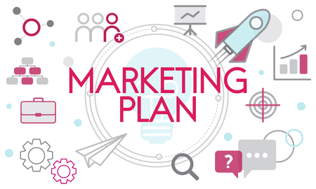 Graphic with marketing plan concept