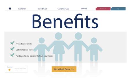 Verzekering Dekking Mix Vergoeding Bescherming Concept