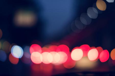 ぼやけた光抽象的なナイトライフ 写真素材