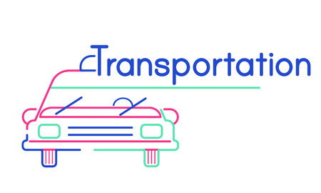Illustration of automotive car rental transportation Stock Illustration - 80268976