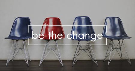 Wees het veranderingsverschil voor creatief ontwikkelingsbedrijf Stockfoto