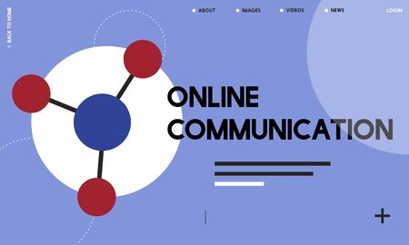 Global network connected with social network online community illustration Stok Fotoğraf
