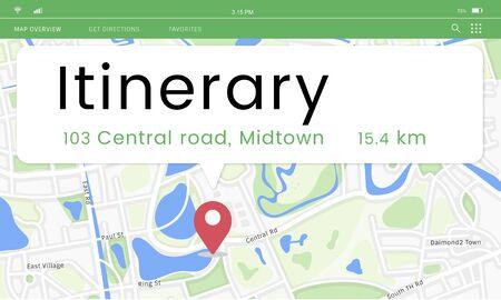 Mapa de localización gps ubicación gráfico de la escalera Foto de archivo - 80371620