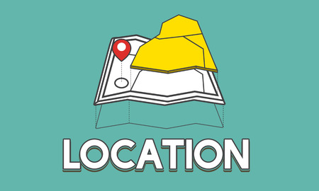 GPS の場所地図旅行グラフィック