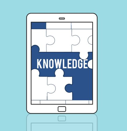 Education Learning Puzzle Pieces Graphic 版權商用圖片