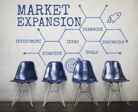 비즈니스 프로세스 머천다이징 시장 확장 스톡 콘텐츠