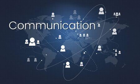 Illustration of global communication network technology