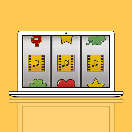 Slot Machine Game Music Symbols Banco de Imagens