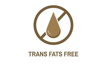 トランス脂肪フリーな健康的なライフ スタイル コンセプト