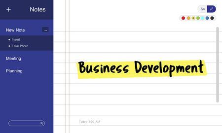 Bedrijfsnota Doelmissie Concept Stockfoto