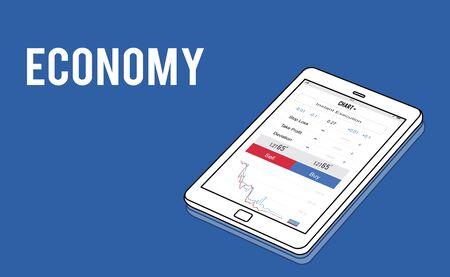 Financial forex business chart report Stock fotó