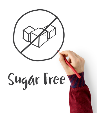 Sugar Free Healthy Lifestyle Concept Stock Photo