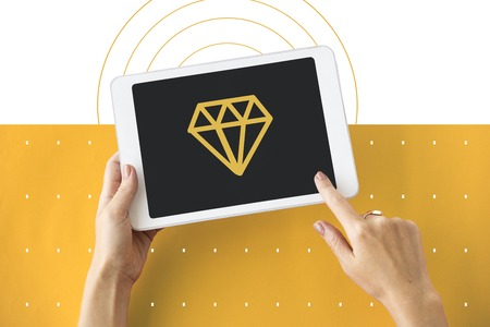 wireless connection: Diamond Gem Jewelry Graphic Symbol Icon