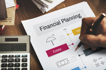Investissement professionnelle planification financière de services Banque d'images - 80272734