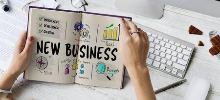 새로운 비즈니스 시장 벤처 확장 성장 스톡 콘텐츠