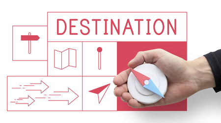 Map Direction Pin Tag Location Journey Stock Photo