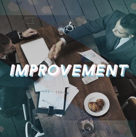 Improvement Progress Growth Efficiency Word Banco de Imagens