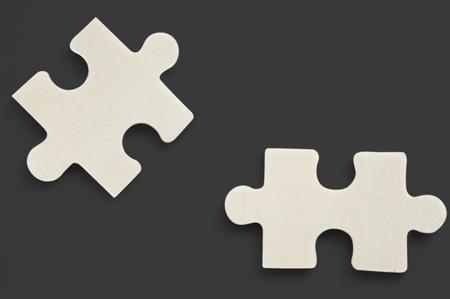 Jig Saw Puzzle Geïsoleerde Stukken