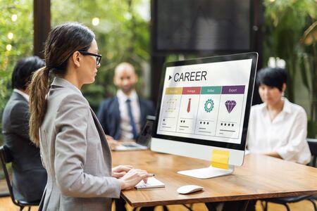 average guy: Career Skills Progress Graphic Icon Symbol