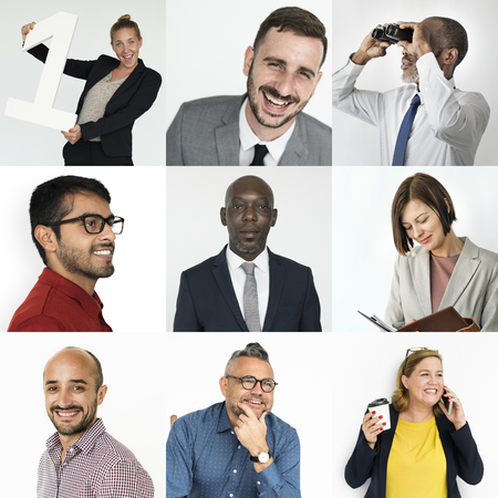 Collection of successful business people Imagens