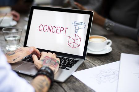 Een creativiteitsontwerp gaat over een ideeënproject.