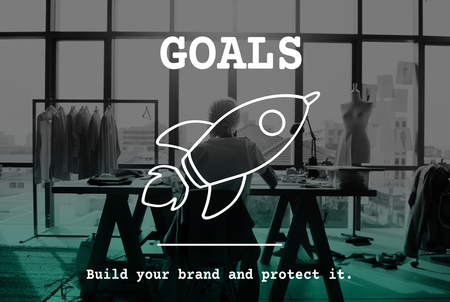 Goals concept with background