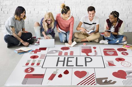 Love Kindness Help Concept de bien-être Banque d'images - 80276169