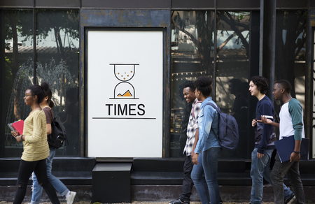 no time: Hourglass Sandglass Timer Icon Word