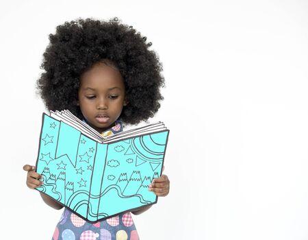 어린 소녀 독서 도서 교육 동성애 스튜디오 초상화