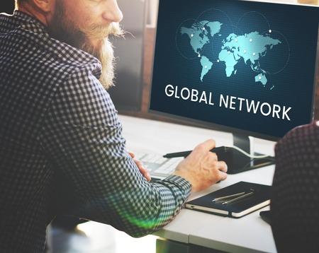 Global network communication technology graphic Stok Fotoğraf