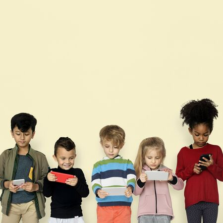 Little Children Using Smart Phone