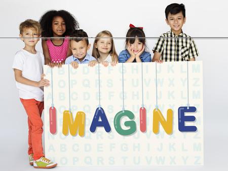 Children with imagine concept