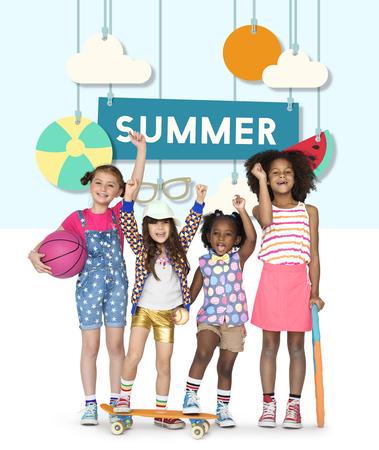 Summer Break Holiday Kids Enjoy Graphic