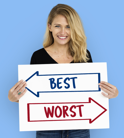 Best Worst Decision Guidance Decision Word Stockfoto