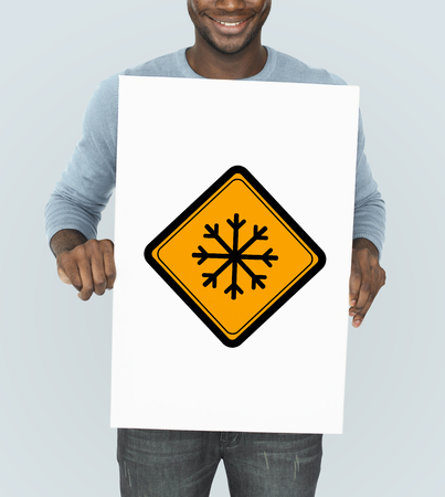 Snow Flake Cold Warning Sign